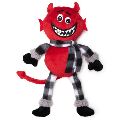 The Worthy Dog Buffalo Devil Toy - Red - One Size