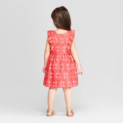 d8fe05dd0 Genuine Kids® from OshKosh Toddler Girls' Tile Lace Dress - Neon Pink