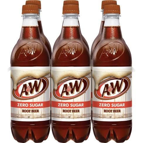 A&W Root Beer Zero Sugar - 6pk/0.5 L Bottles - image 1 of 4