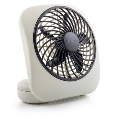 "Treva 5"" 2pk Battery Powered Portable Desk Fan White"