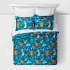 Friendly Fauna Microfiber Comforter Set Turquoise - Pillowfort™ - image 2 of 4