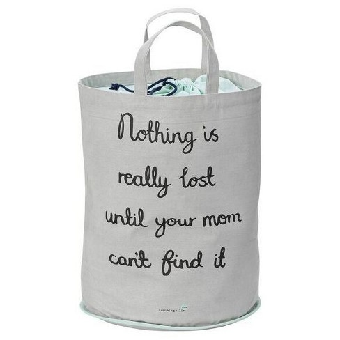 "Cotton Storage Bag ""Nothing Is"" - Mint/Gray - 3R Studios - image 1 of 1"