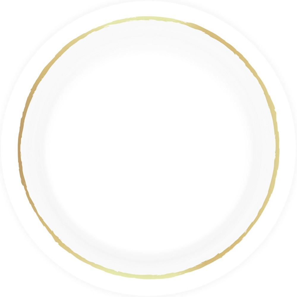 8.520ct Disposable Dinner Plates White - Spritz