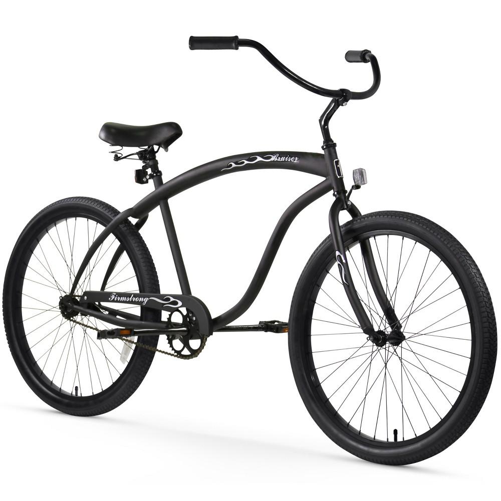 Firmstrong Bruiser Man 26 Single Speed Beach Cruiser Bicycle - Matte Black