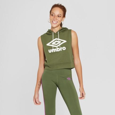 2f0cd1b7477 Umbro Women's Sleeveless Sweatshirt - Dark Green XS