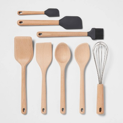 8pc Wood Tool Set Light Brown - Made By Design™