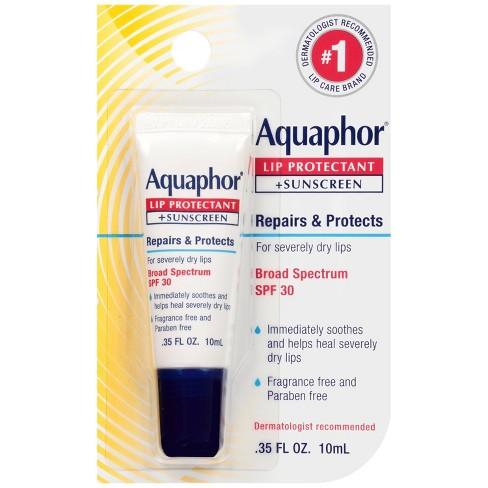 Aquaphor Lip Protectant + Sunscreen Lip Balm - SPF 30 - 0.35 fl oz - image 1 of 3