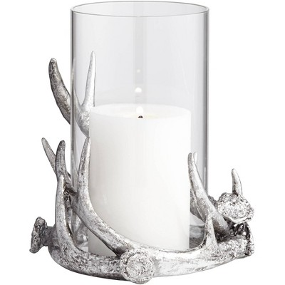 Kensington Hill Abie Silver Antler Candle Holder with Glass Tube