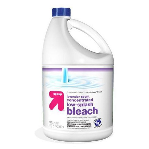 Bleach Concentrated Lavender Scent 121oz - Up&Up™ (Compare to Clorox®† Splash-Less™ Bleach) - image 1 of 1