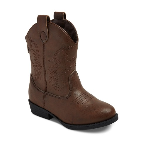 Toddler Boys' Ollie Western Cowboys Boots - Cat & Jack™ Brown - image 1 of 4
