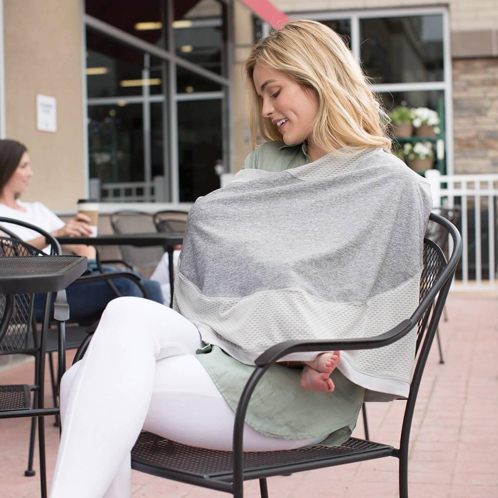 Image of Boppy 4 & More Multi-Use Nursing Cover - Pearl, Gray