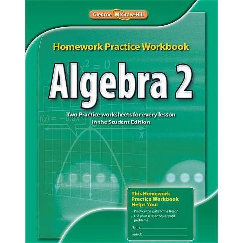 Algebra 2 Homework Practice Workbook - (Paperback) - image 1 of 1