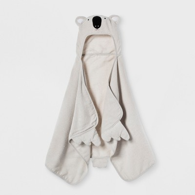 Koala Hooded Bath Towel Silver - Pillowfort™