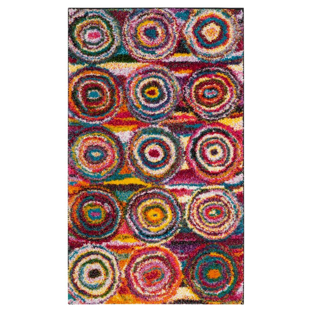 Multi Abstract Loomed Area Rug - (4'x6') - Safavieh, Multicolored
