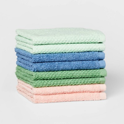 "8pc 12""x12"" Washcloth Set Green - Pillowfort™"