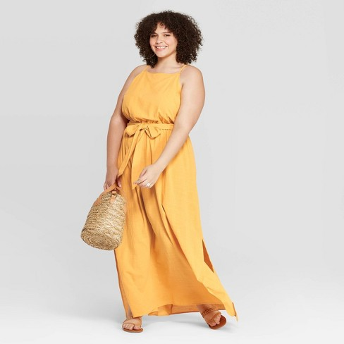 Women\'s Plus Size Sleeveless Square Neck Maxi Dress - Universal Thread™  Yellow X