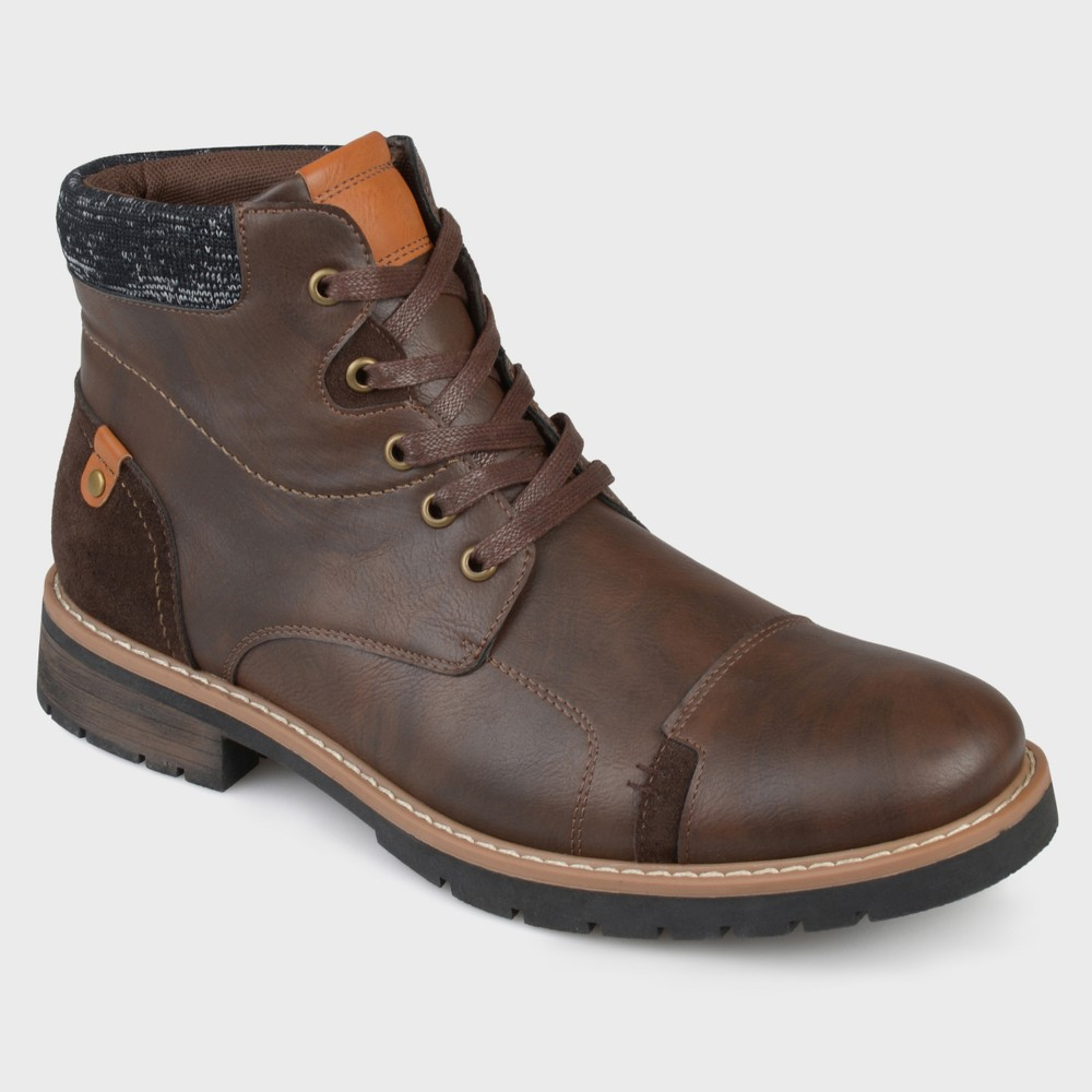 Men's Vance Co. Manzo Faux Leather Lace-UP Boots - Brown 7