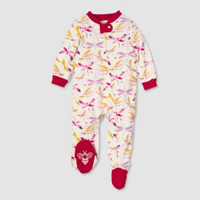 Burt's Bees Baby® Baby Girls' Organic Cotton Autumn Sky Sleep N' Play - Pink 6-9 M