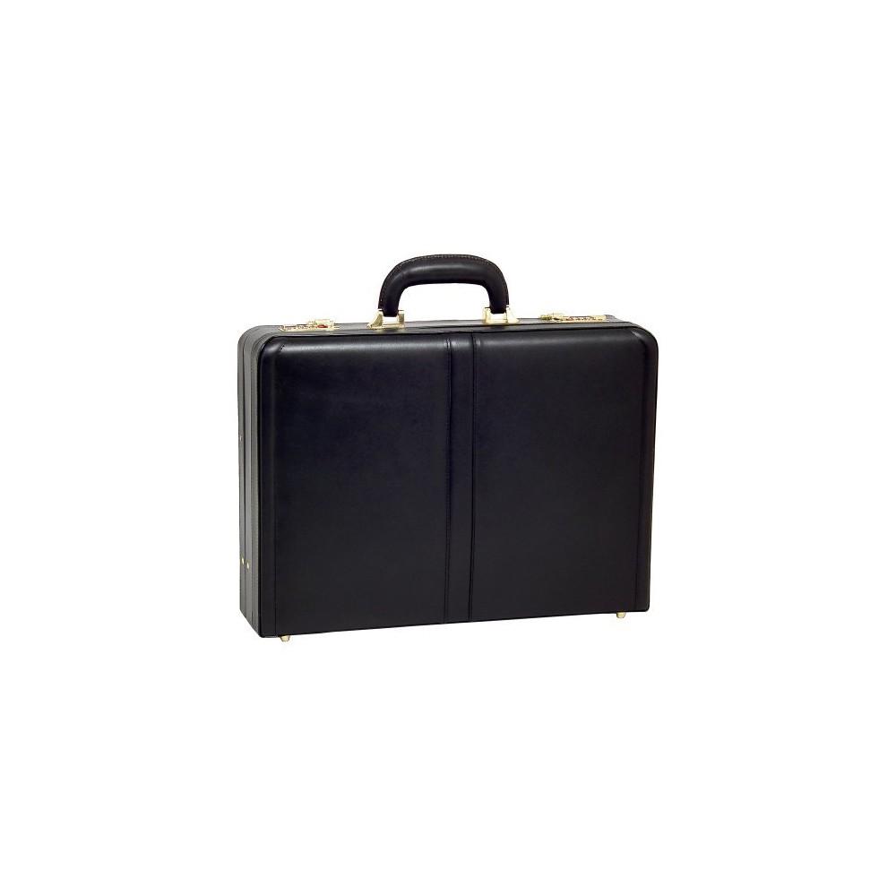 McKlein Harper Leather 4.5 Expandable Attache Briefcase (Black)