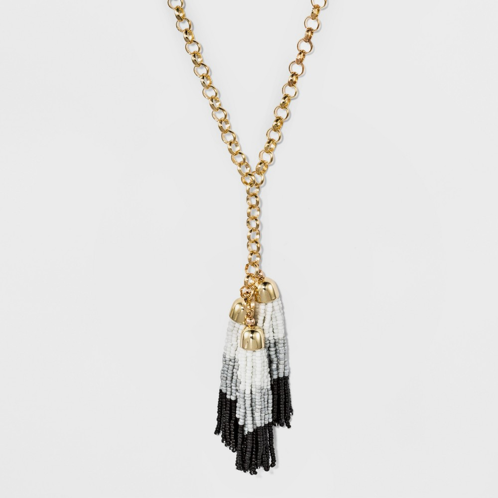 Image of Cascading Beaded Tassel Necklace - A New Day , Women's, MultiColored