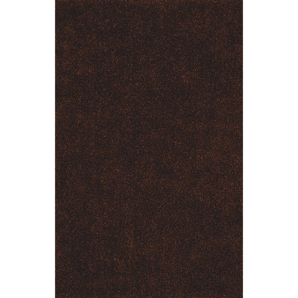 5'x7'6 Lustrous Shoestring Shag Area Rug Chocolate (Brown) - Addison Rugs