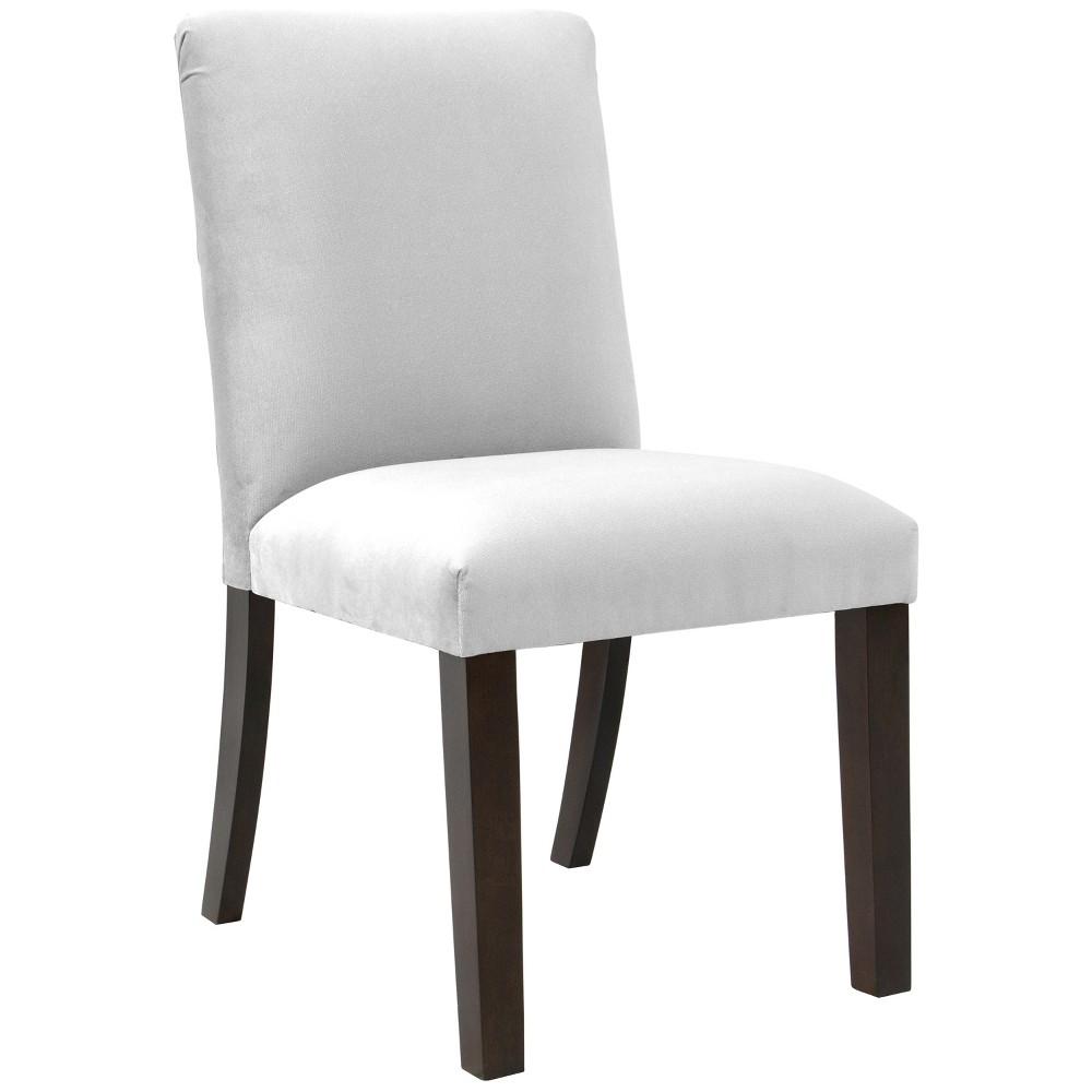 Aster Diamond Tufted Back Dining Chair White Velvet - Cloth & Co.