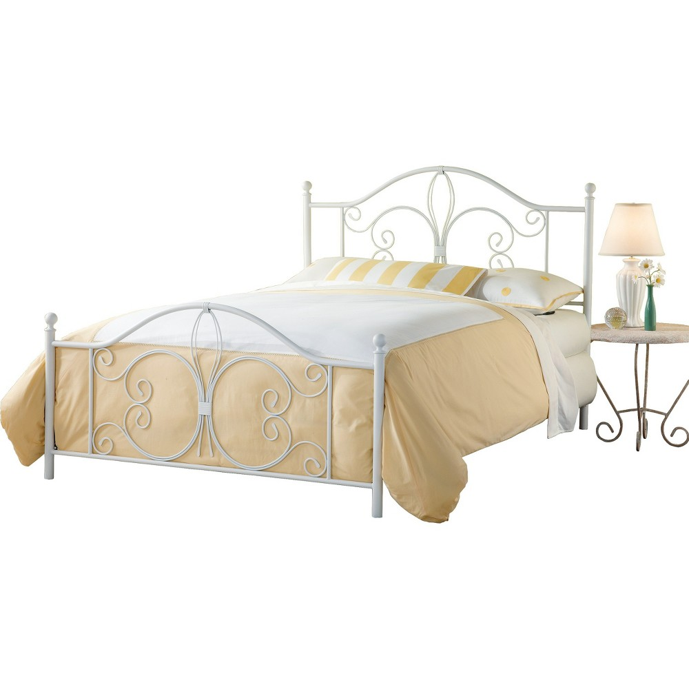 Ruby Bed with Rails - White (Full) - Hillsdale Furniture