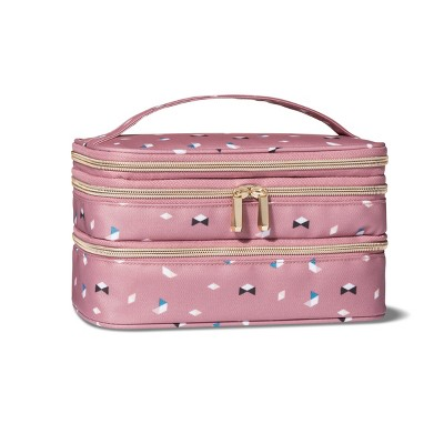 Sonia Kashuk™ Triple Zip Train Case Makeup Bag   Pink by Shop This Collection