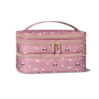 Sonia Kashuk™ Triple Zip Train Case Makeup Bag - Pink