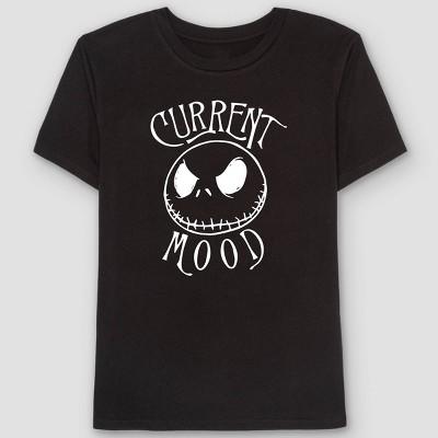 Men's The Nightmare Before Christmas Short Sleeve Graphic T-Shirt - Black