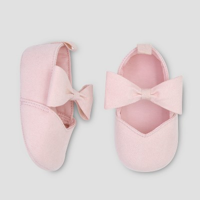 Baby Girls' Large Bow Mary Jane - Just One You® made by carter's Pink 0-3M