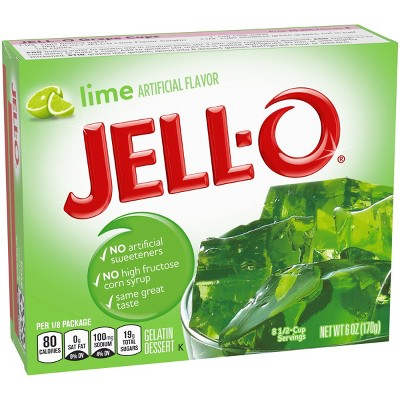 JELL-O Lime Gelatin - 6oz