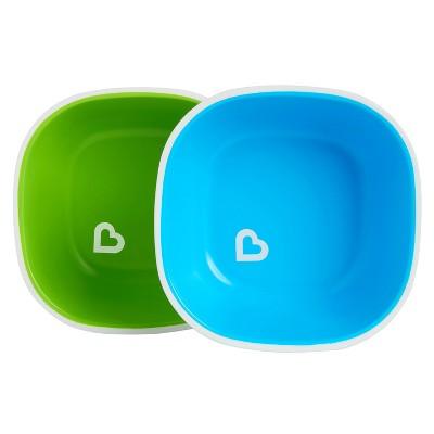 Munchkin Splash Toddler Bowls - 2pk - Blue/Green