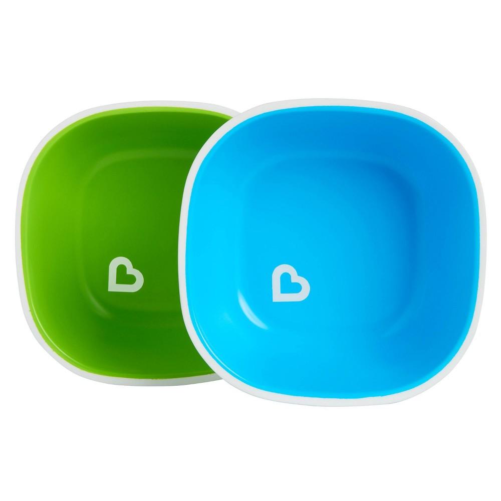 Munchkin Splash Toddler Bowls 2pk Blue Green