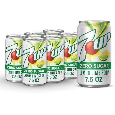 7UP Zero Sugar Lemon Lime Soda- 6pk/7.5 fl oz Cans