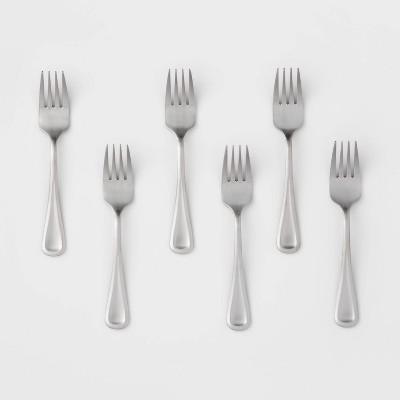 6pk Stainless Steel Olisa Satin Salad Forks - Threshold™