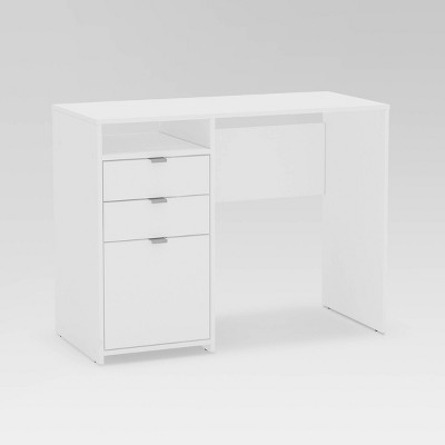 Bristol 3 Drawer Writing Desk with Shelf White - Chique