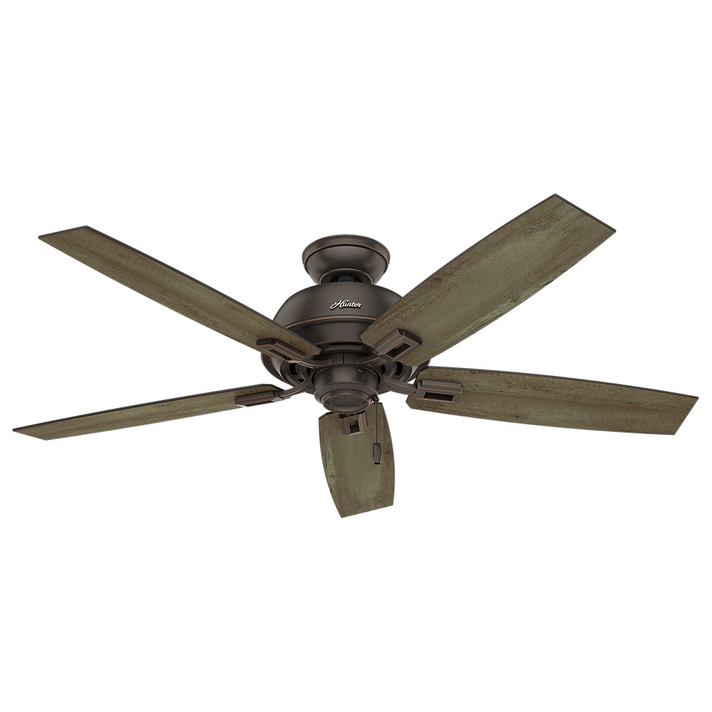 52 Donegan Damp Onyx Bengal Ceiling Fan - Hunter Fan, Bronze