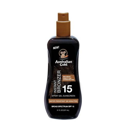 Australian Gold Sunscreen Spray Gel with Instant Bronzer - SPF 15 - 8 fl oz - image 1 of 3