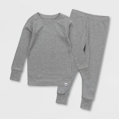 Honest Baby Toddler Solid Pajama Set - Gray 4T