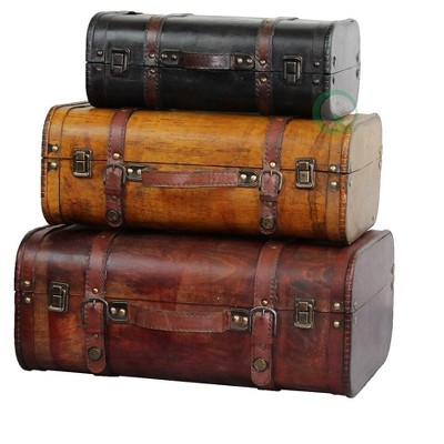 Vintiquewise Colored Vintage Style Luggage Suitcase/Trunk