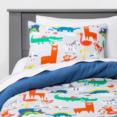 Full/Queen Animal Adventure Comforter Set - Pillowfort™