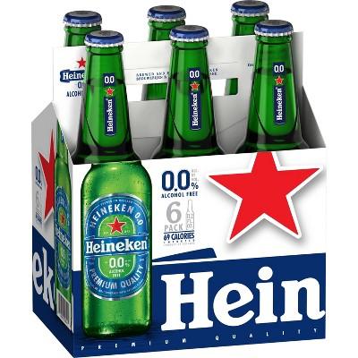 Heineken 0.0 Non-Alcoholic Beer - 6pk/11.2 fl oz Bottles