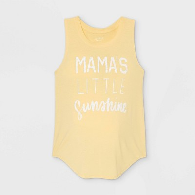 Mama's Little Sunshine Graphic Maternity Tank Top - Isabel Maternity by Ingrid & Isabel™ Yellow