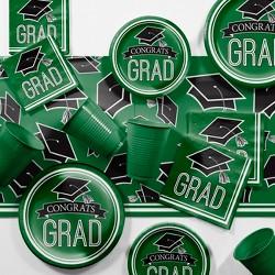 Green Graduation School Party Supplies Kit