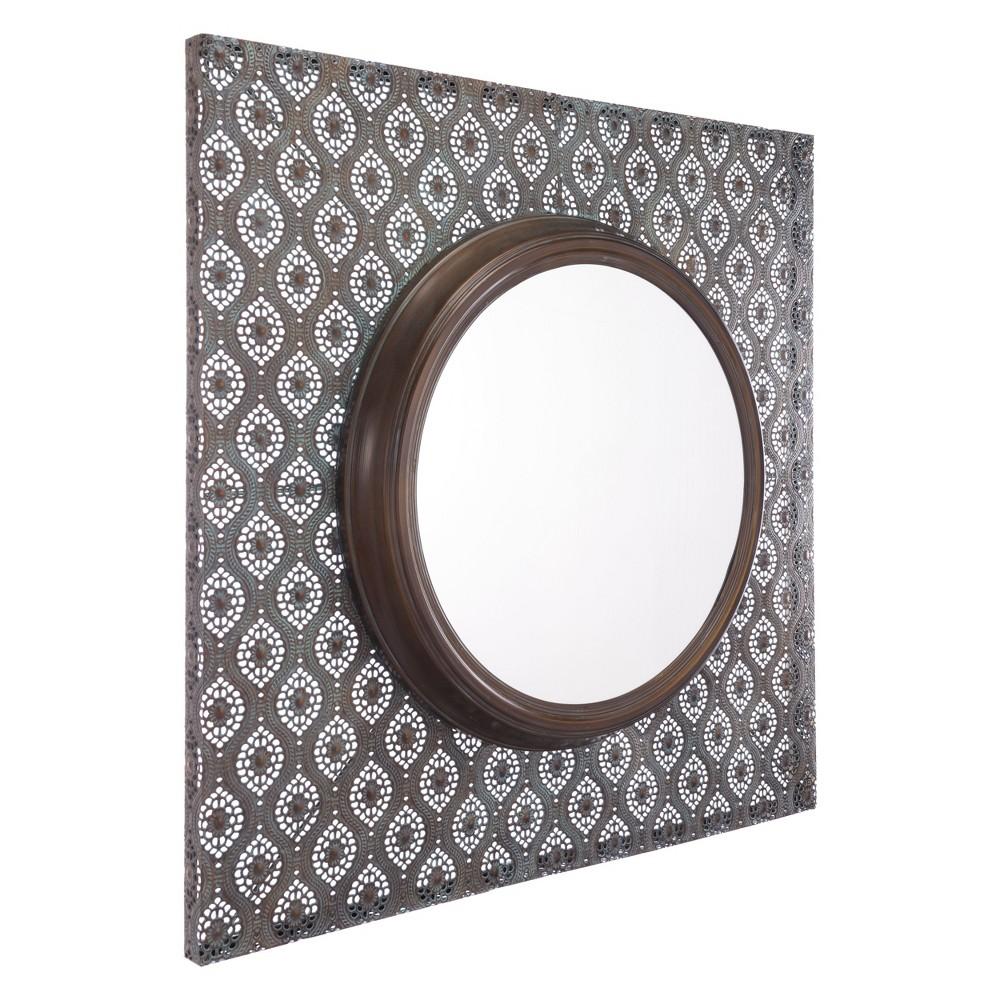 ZM Home 36 Global Steel Panel Mirror Brown