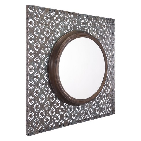 "ZM Home 36"" Global Steel Panel Mirror Brown - image 1 of 2"