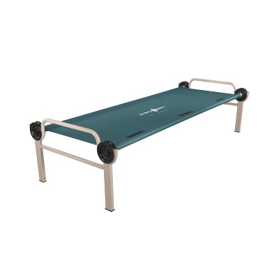 Disc-O-Bed 30011 Adjustable Height Portable Steel Frame 500 Pound Capacity Outdoor Hunting Camp Cot Bed with Leg Extensions and Carrying Case, Teal