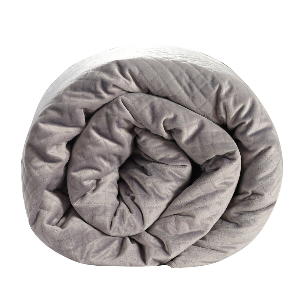 "Image of ""48""""x74"""" 15lb Quilted Weighted Blanket Gray - BlanQuil"""