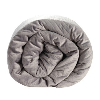 48u0022x74u0022 15lb Quilted Weighted Blanket Gray - BlanQuil
